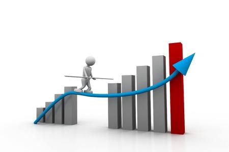 Geschäftserfolg Diagramm