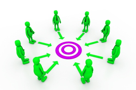 common target: Team work target