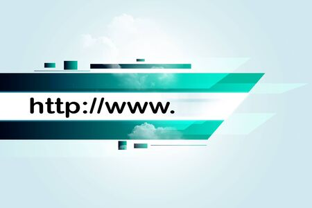 Internet address concept  photo