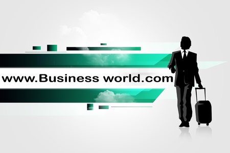 Internet address concept with business man Stock Photo - 8278934
