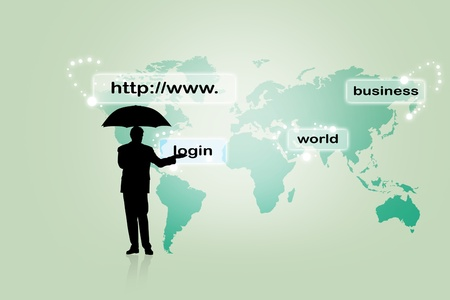 Internet address concept with business man Stock Photo - 8278929