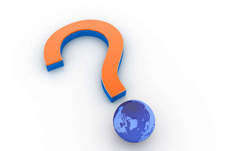 Question mark with globe Stock Photo - 8278985