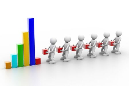 Business performance and teamwork Stock Photo - 8304626