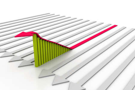 record breaking: Growth graph  Stock Photo