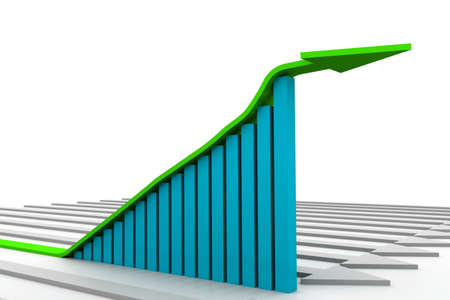 Growth graph Stock Photo - 8304611