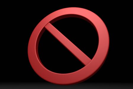 prohibitions: Red prohibition symbol in black background