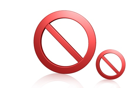 prohibitions: Red prohibition symbol in white background