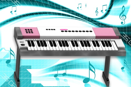 orchestrate:  3d rendering of Piano in abstract background    Stock Photo