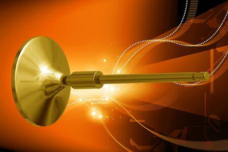 Digital illustration of engine valve in color background  illustration