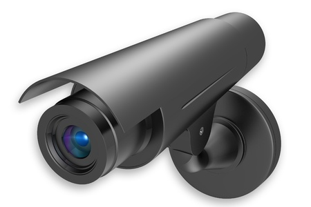 Highly quality rendering of  security camera in isolated background photo