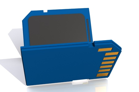 highspeed: 3d rendering of memory card in isolated background  Stock Photo
