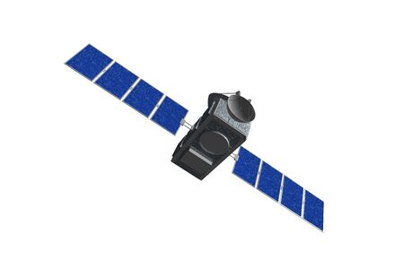 Highly quality of satellite  in isolated  background  photo