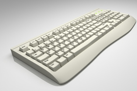 key board: Highly quality rendering of key board in isolated background