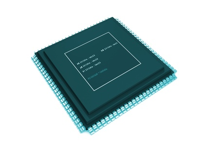 semiconductor: 3d rendering of semiconductor in isolated  background  Stock Photo