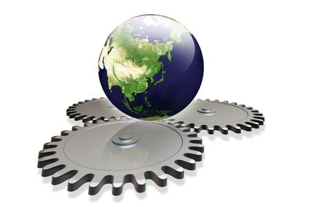 industrialization: Global Industrialization concept