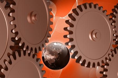 industrialization: Global Industrialization concept Stock Photo