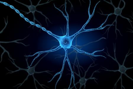 nervios: Neurona en fondo aislado   Foto de archivo