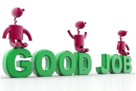 digital illustration of good job in isolated background Stock Illustration - 8361685