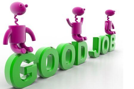 digital illustration of good job in isolated background illustration