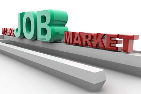 searches: digital illustration of job market in isolated background