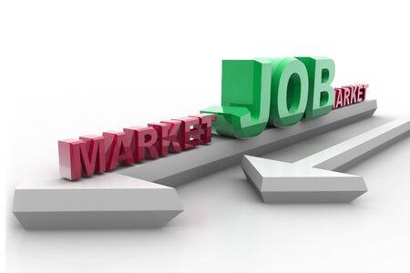 digital illustration of job market in isolated background Stock Illustration - 8369021
