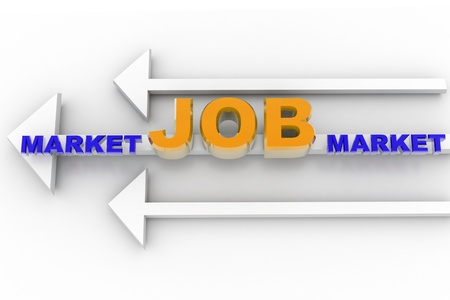 digital illustration of job market arrow in isolated background Stock Illustration - 8369097