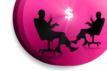 digital  illustration  of businessman and dollar Stock Illustration - 8368963