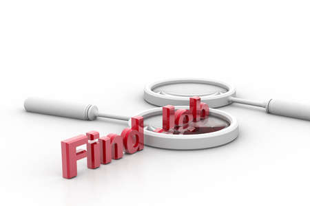 3d rendering of find job and lance in isolated background Stock Photo - 8368905