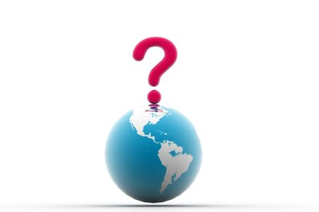 3d rendering of world question in isolated background Stock Photo - 8368633