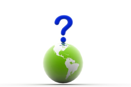 3d rendering of world question in isolated background Stock Photo - 8368637