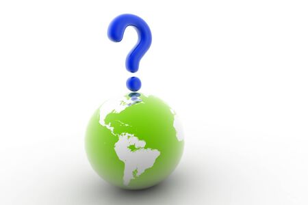 3d rendering of world question in isolated background Stock Photo - 8368773