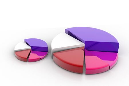 3d rendering of pie graph in isolated background  Stock Photo - 8369000