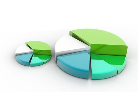 3d rendering of pie graph in isolated background Stock Photo - 8368990