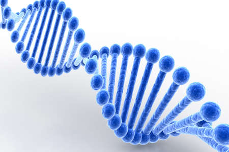 Digital illustration of dna in grey background Stock Illustration - 8507702