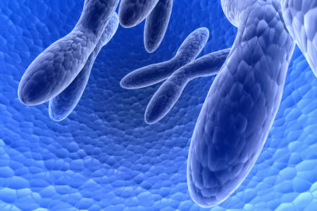 3d rendering of chromosome in attractive background photo