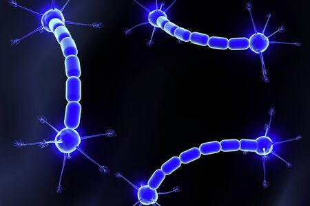 peripheral nerve: Concept of neurons and nervous system Stock Photo