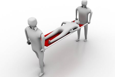 3D Medics Saving Life concept photo