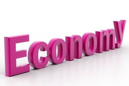 Highly rendering of economy in white background Stock Photo - 8511385