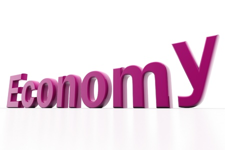 Highly rendering of economy in white background Stock Photo - 8511432