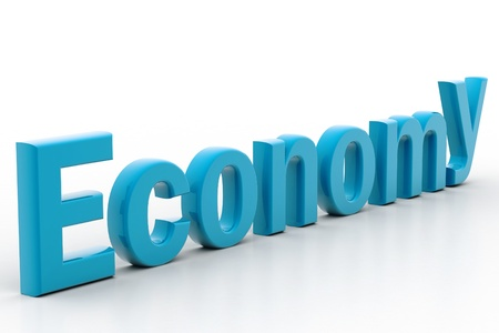 Highly rendering of economy in white background Stock Photo - 8511816