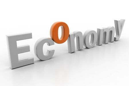 Highly rendering of economy in white background Stock Photo - 8514582