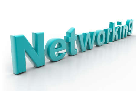 referrals: Highly rendering of networking concept in white background