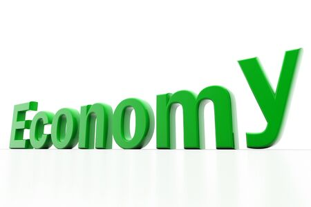 Highly rendering of economy in white background Stock Photo - 8514585