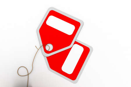 Highly rendering of sale tag in white background Stock Photo - 8519343