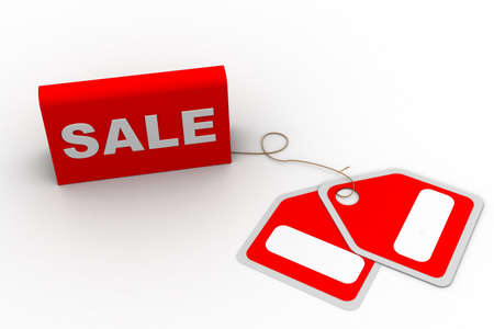 Highly rendering of sale tag in white background Stock Photo - 8517828
