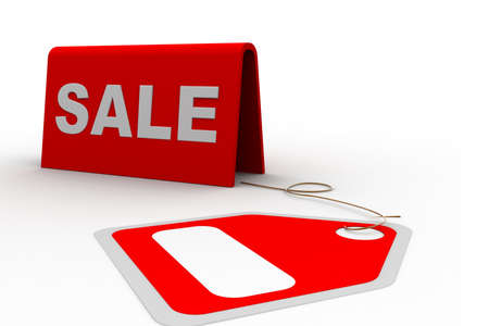 Highly rendering of sale tag in white background Stock Photo - 8517709