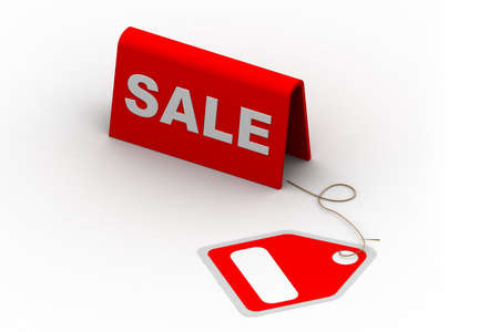 Highly rendering of sale tag in white background Stock Photo - 8517725