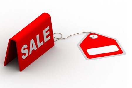 Highly rendering of sale tag in white background Stock Photo - 8524371