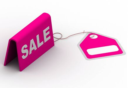 Highly rendering of sale tag in white background Stock Photo - 8588321