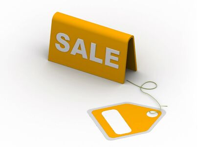Highly rendering of sale tag in white background Stock Photo - 8588322